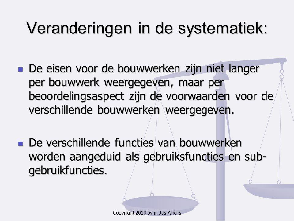 Veranderingen in de systematiek: