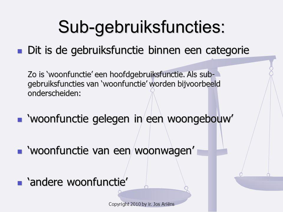Sub-gebruiksfuncties: