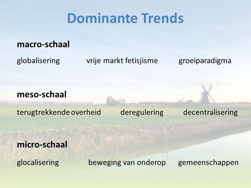 Dominante Trends macro-schaal meso-schaal