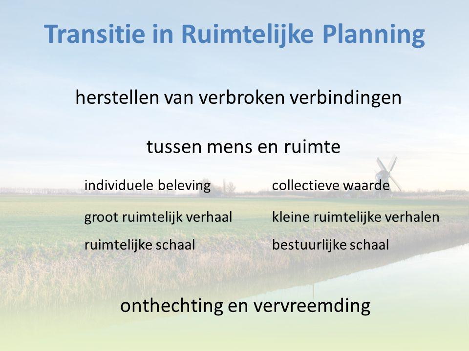 Transitie in Ruimtelijke Planning