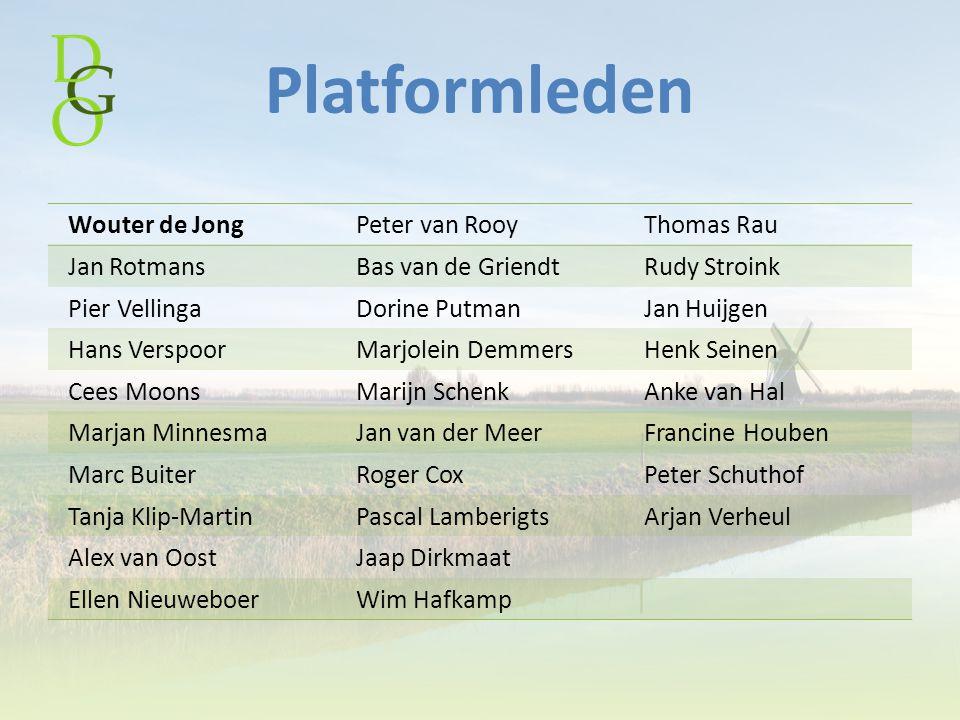 Platformleden Wouter de Jong Peter van Rooy Thomas Rau Jan Rotmans