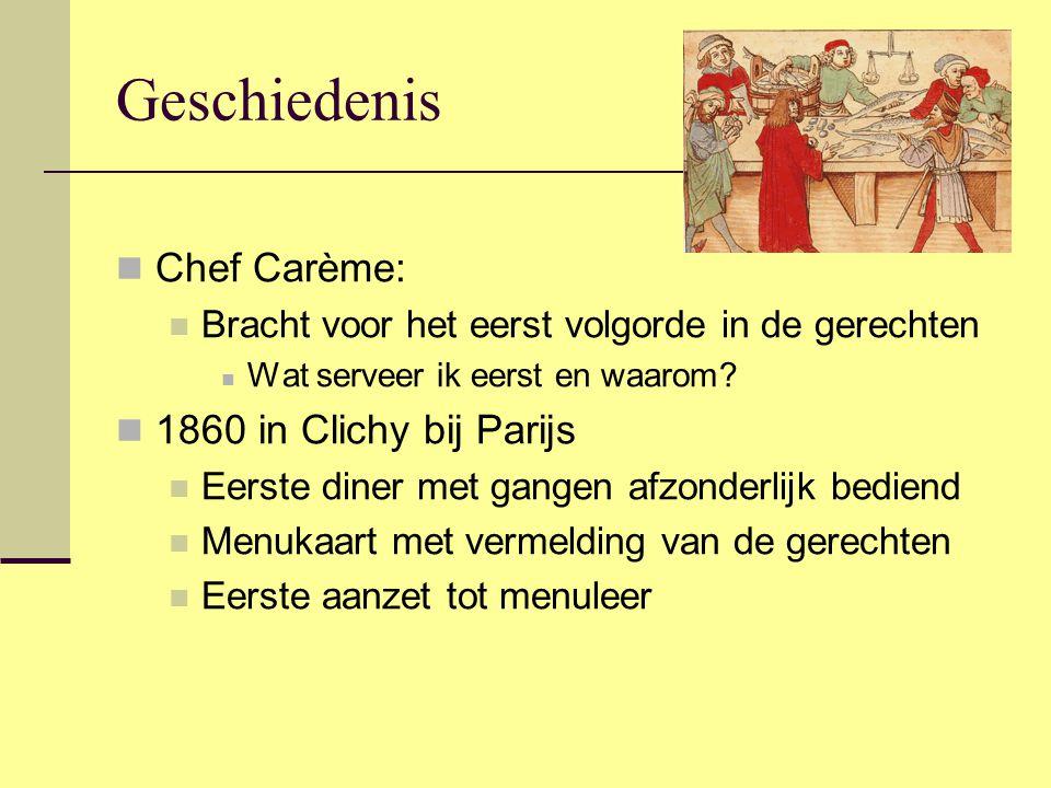 Geschiedenis Chef Carème: 1860 in Clichy bij Parijs