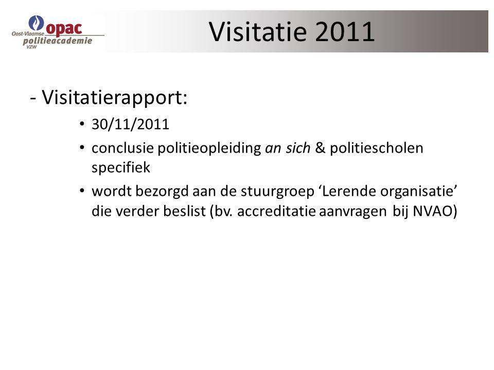 Visitatie 2011 - Visitatierapport: 30/11/2011