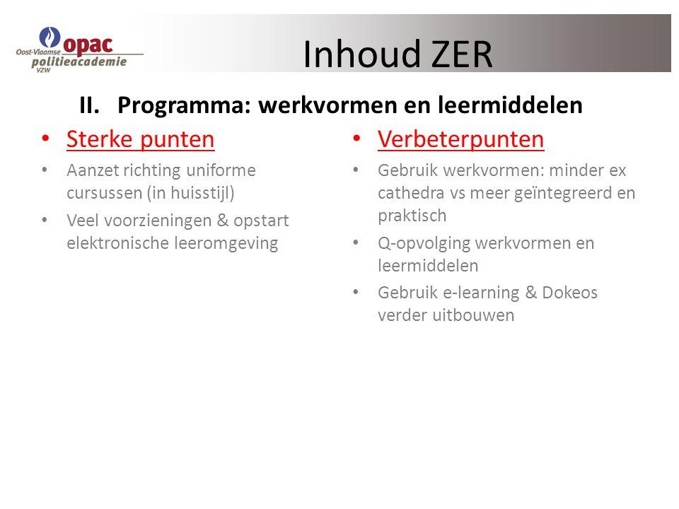 Programma: werkvormen en leermiddelen