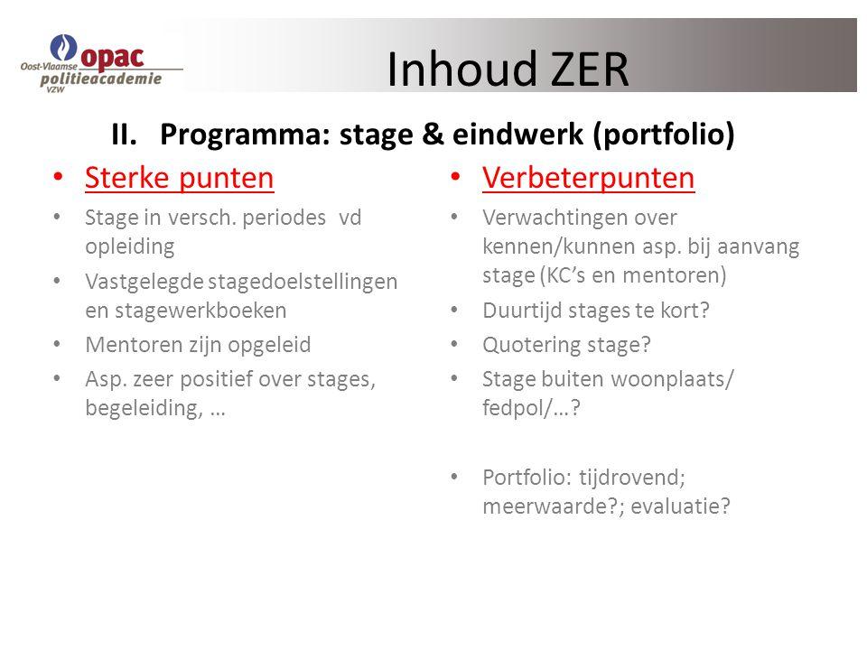 Programma: stage & eindwerk (portfolio)