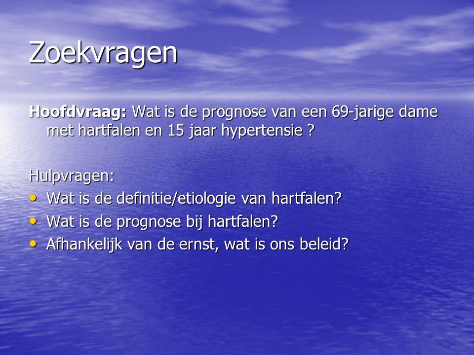 Hartfalen groep ppt download for Prognose hartfalen