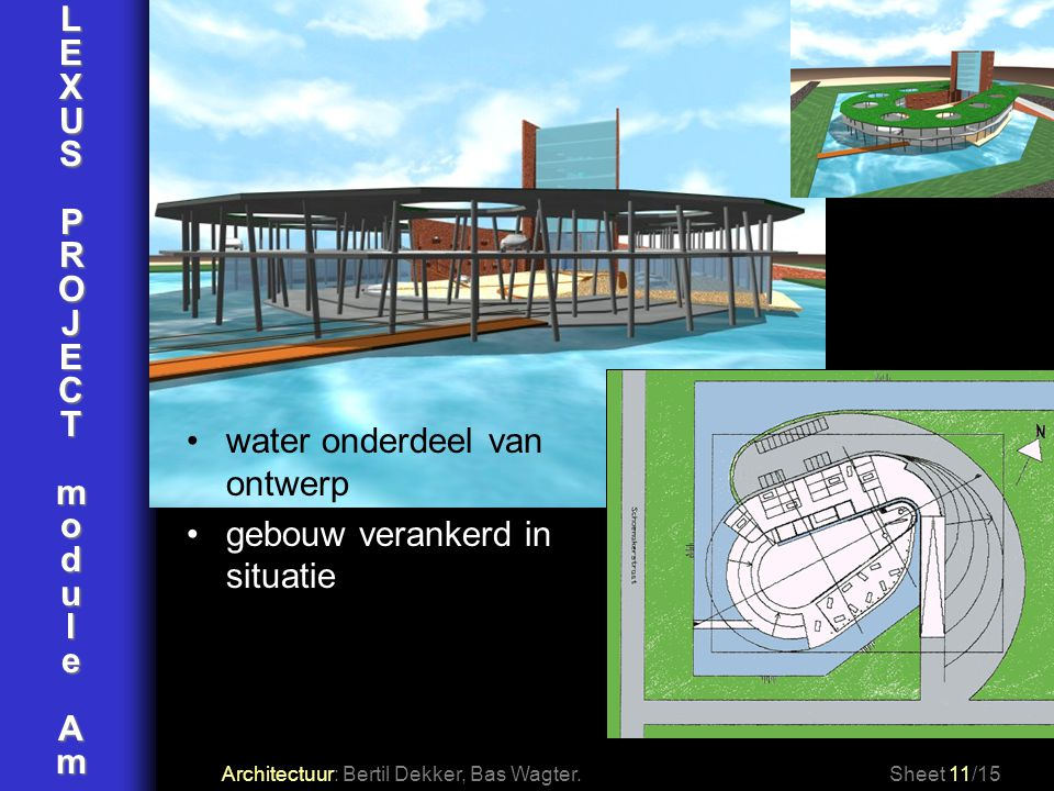 water onderdeel van ontwerp gebouw verankerd in situatie