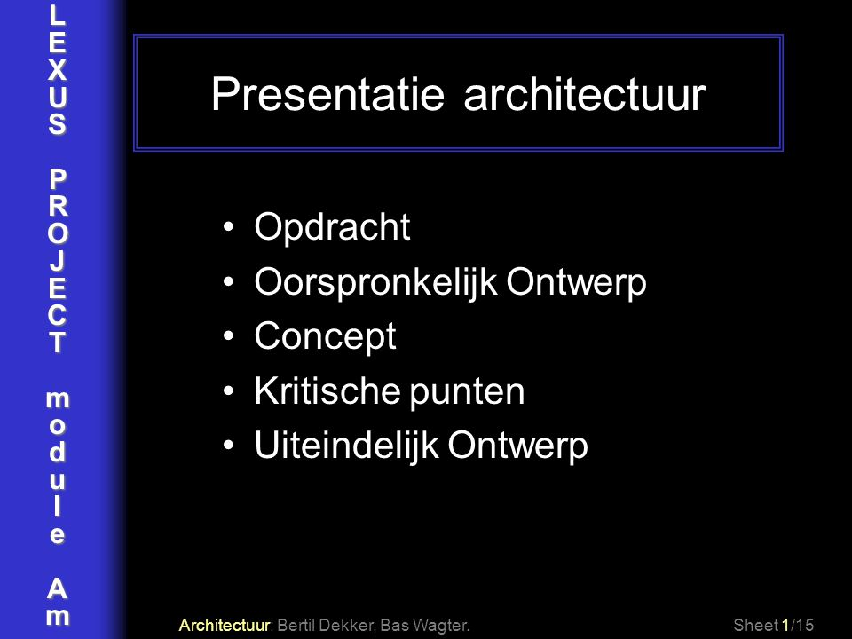 Presentatie architectuur