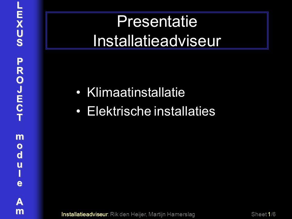 Presentatie Installatieadviseur