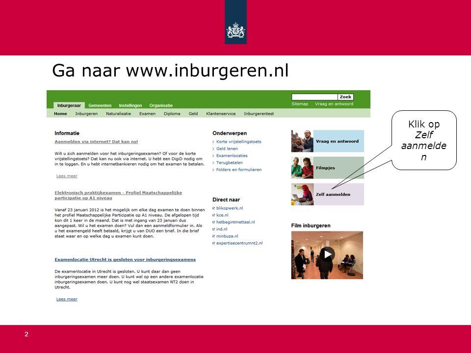 Ga naar www.inburgeren.nl