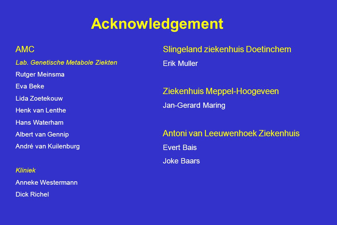 Acknowledgement AMC Slingeland ziekenhuis Doetinchem