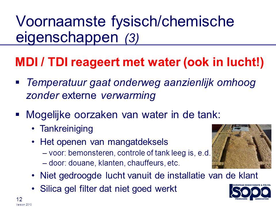 Voornaamste fysisch/chemische eigenschappen (3)
