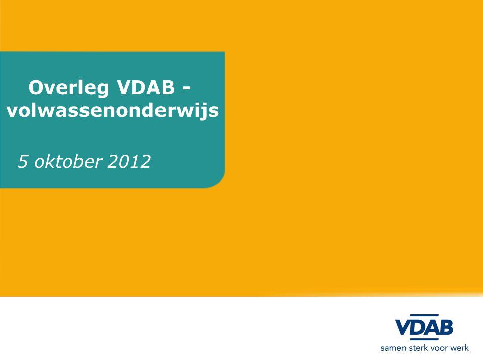 Overleg VDAB - volwassenonderwijs