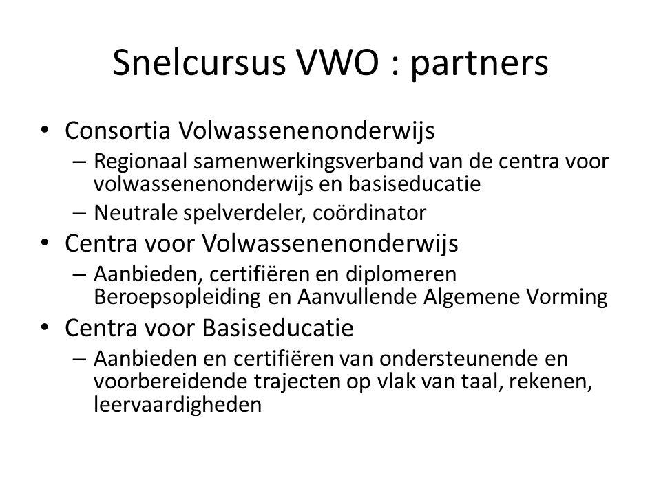 Snelcursus VWO : partners