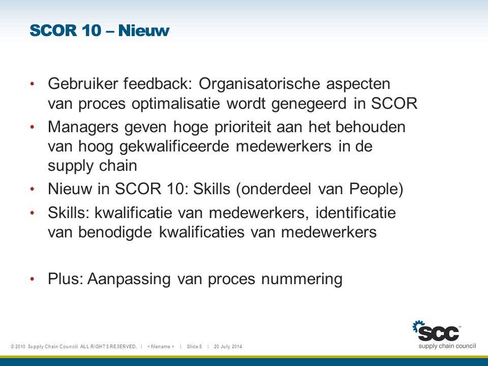 SCOR 10 – Nieuw Gebruiker feedback: Organisatorische aspecten van proces optimalisatie wordt genegeerd in SCOR.