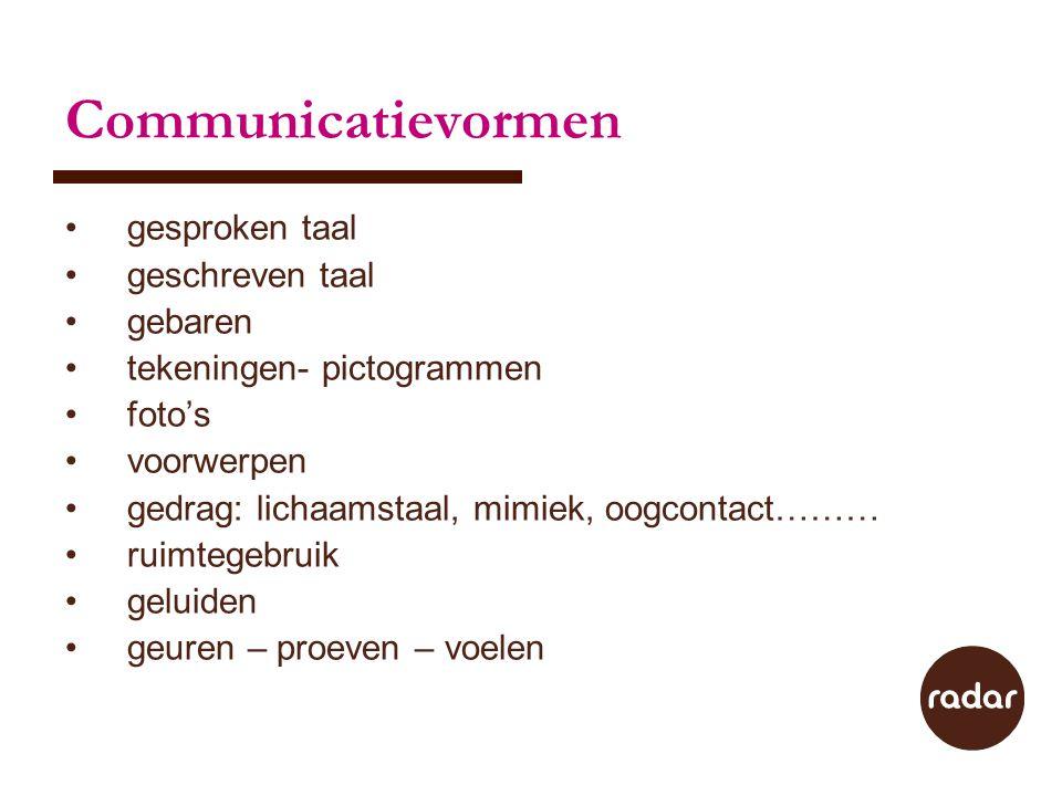 Communicatievormen gesproken taal geschreven taal gebaren