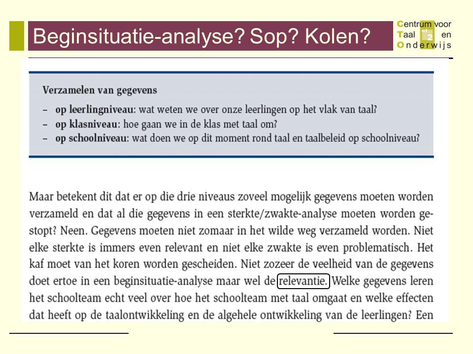 Beginsituatie-analyse Sop Kolen