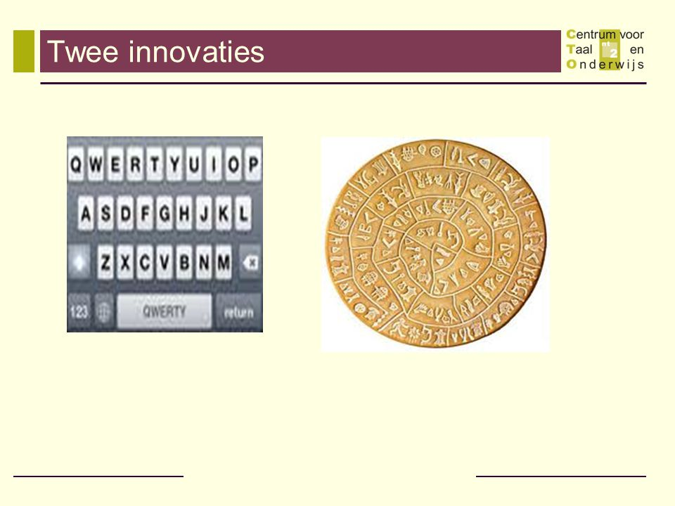Twee innovaties