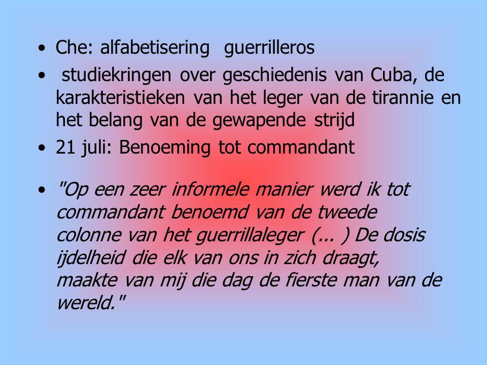 Che: alfabetisering guerrilleros