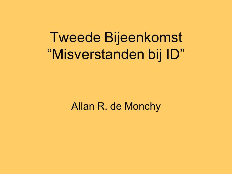 Tweede Bijeenkomst Misverstanden bij ID