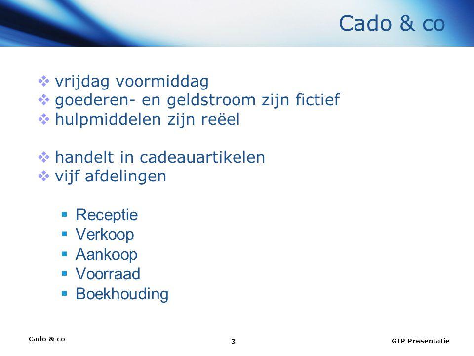 Cado & co Receptie Verkoop Aankoop Voorraad Boekhouding