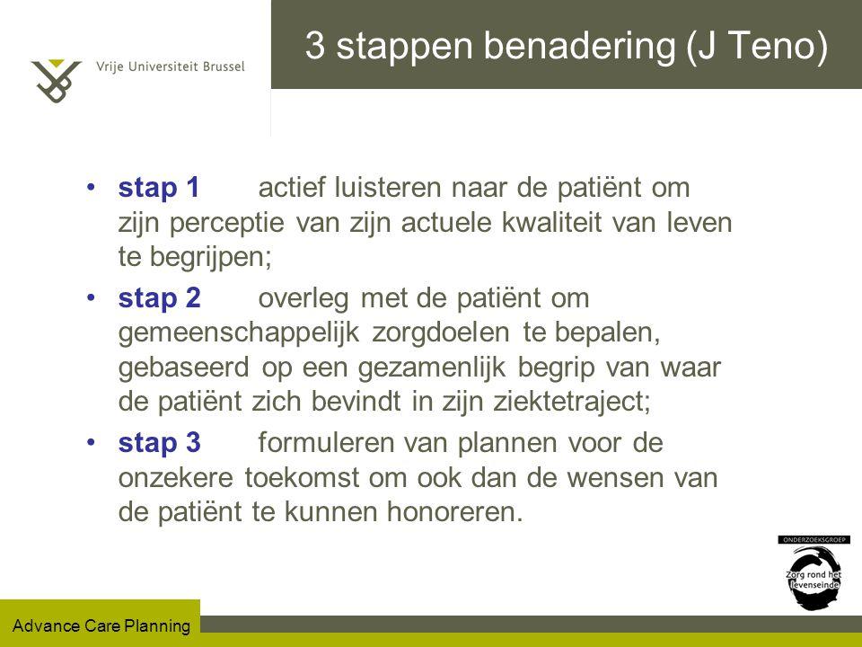 3 stappen benadering (J Teno)