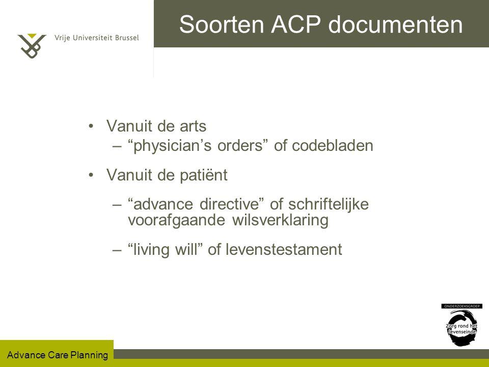 Soorten ACP documenten