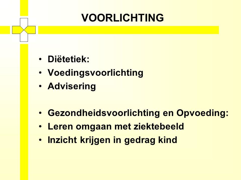 VOORLICHTING Diëtetiek: Voedingsvoorlichting Advisering