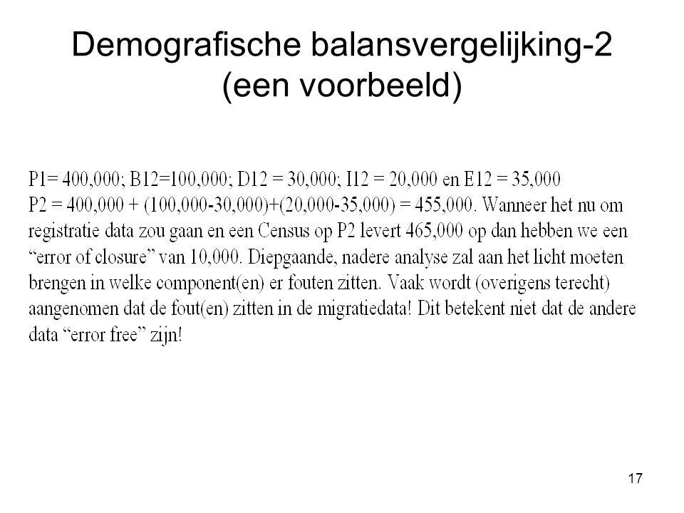 Demografische balansvergelijking-2 (een voorbeeld)