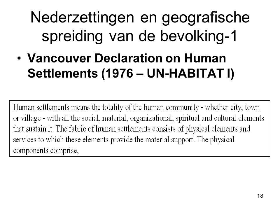 Nederzettingen en geografische spreiding van de bevolking-1