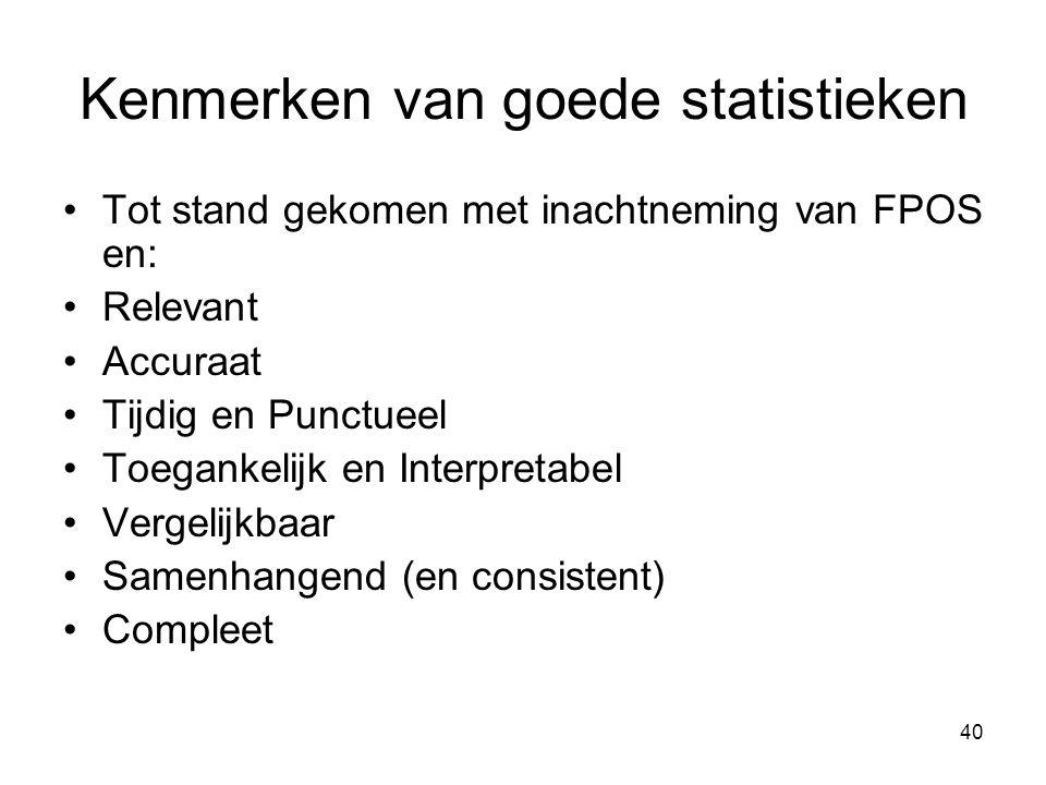 Kenmerken van goede statistieken