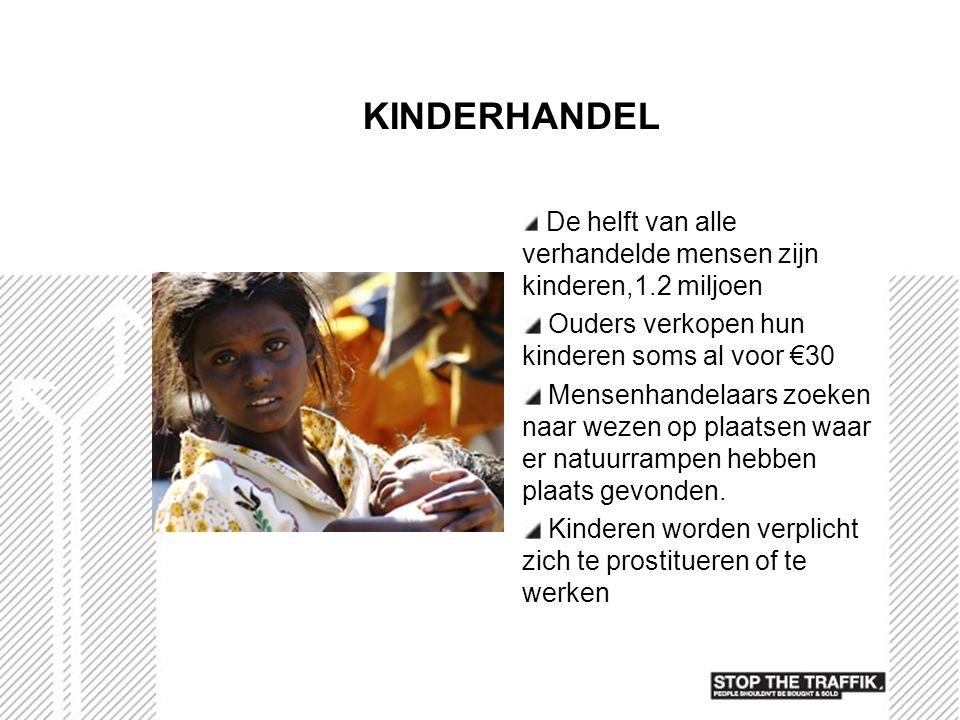 KINDERHANDEL Ouders verkopen hun kinderen soms al voor €30