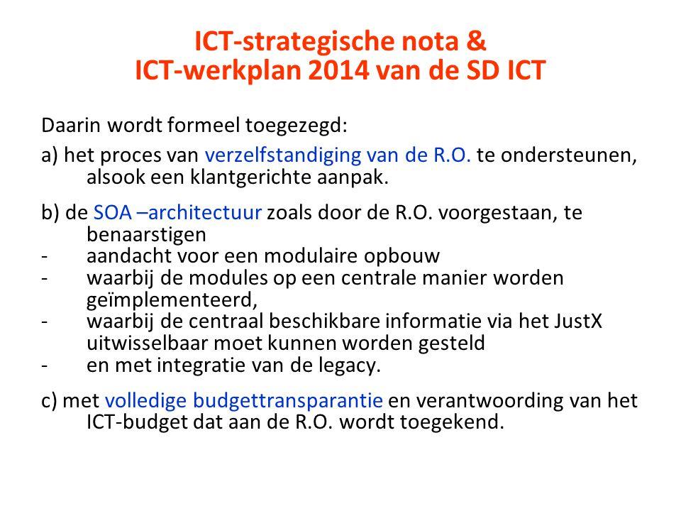 ICT-strategische nota & ICT-werkplan 2014 van de SD ICT