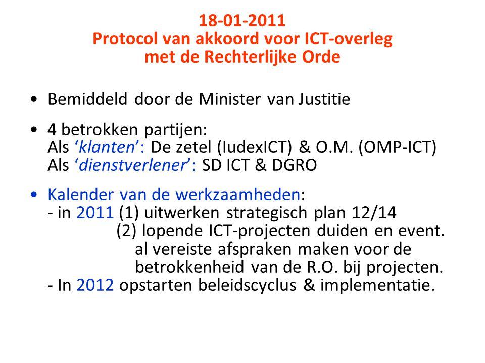 Protocol van akkoord voor ICT-overleg met de Rechterlijke Orde