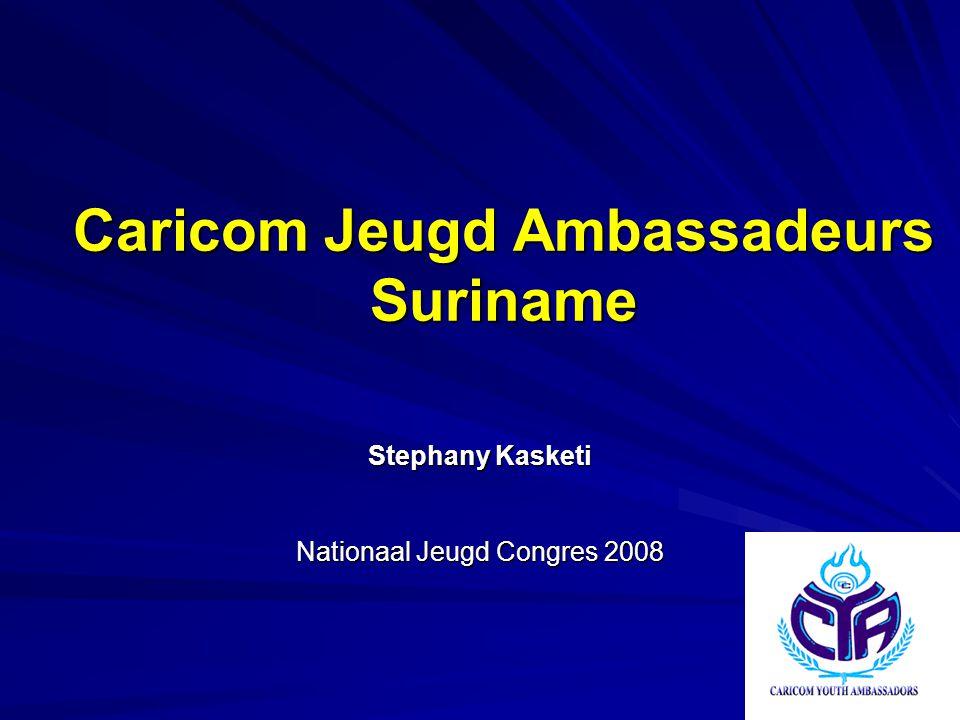 Caricom Jeugd Ambassadeurs Suriname