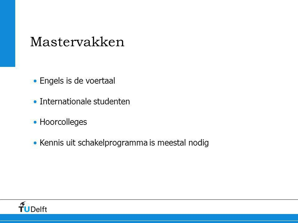 Mastervakken Engels is de voertaal Internationale studenten