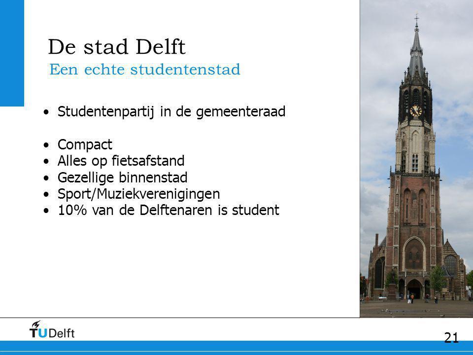 De stad Delft Een echte studentenstad