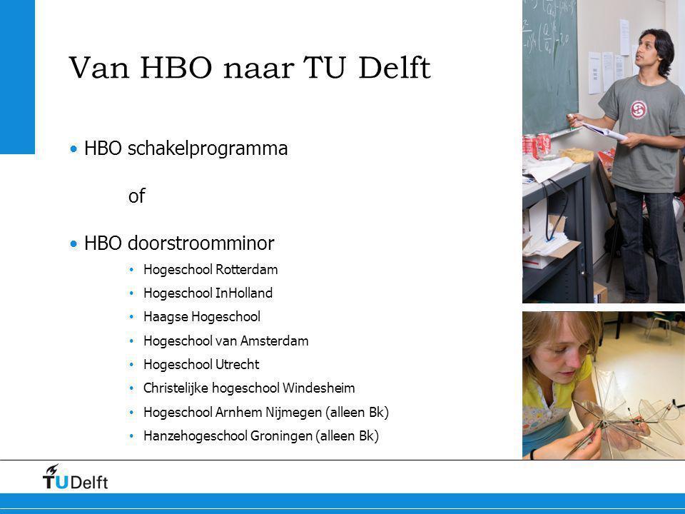 Van HBO naar TU Delft HBO schakelprogramma of HBO doorstroomminor