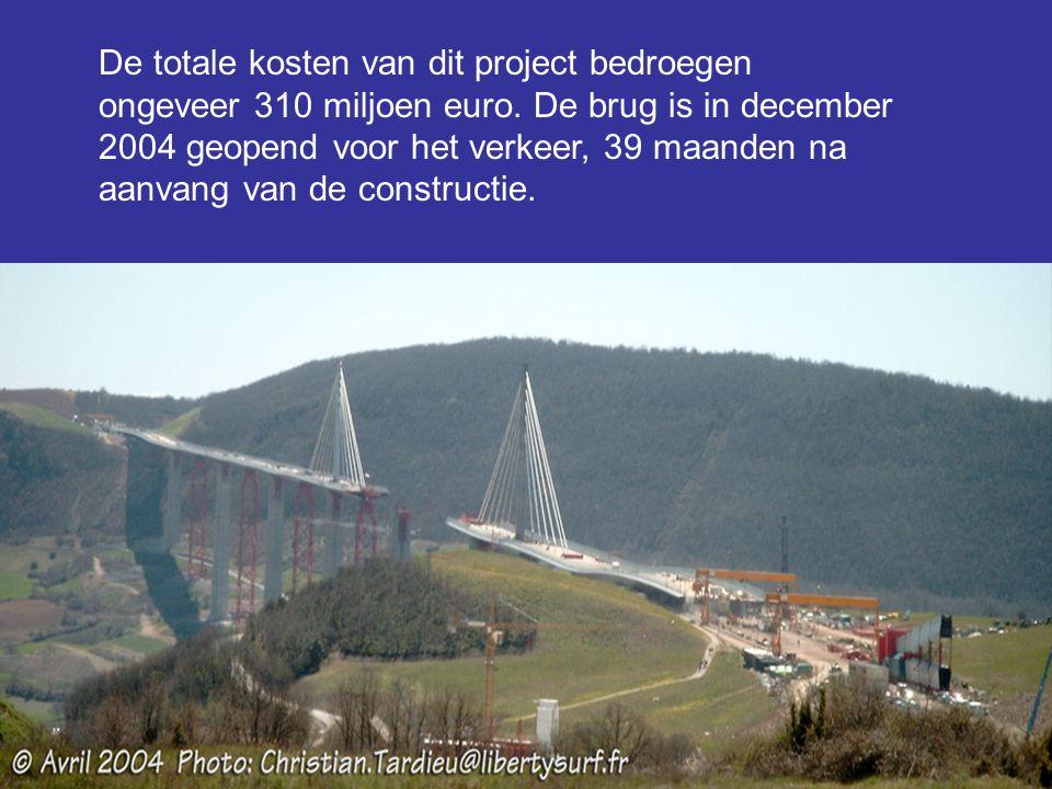 De totale kosten van dit project bedroegen ongeveer 310 miljoen euro