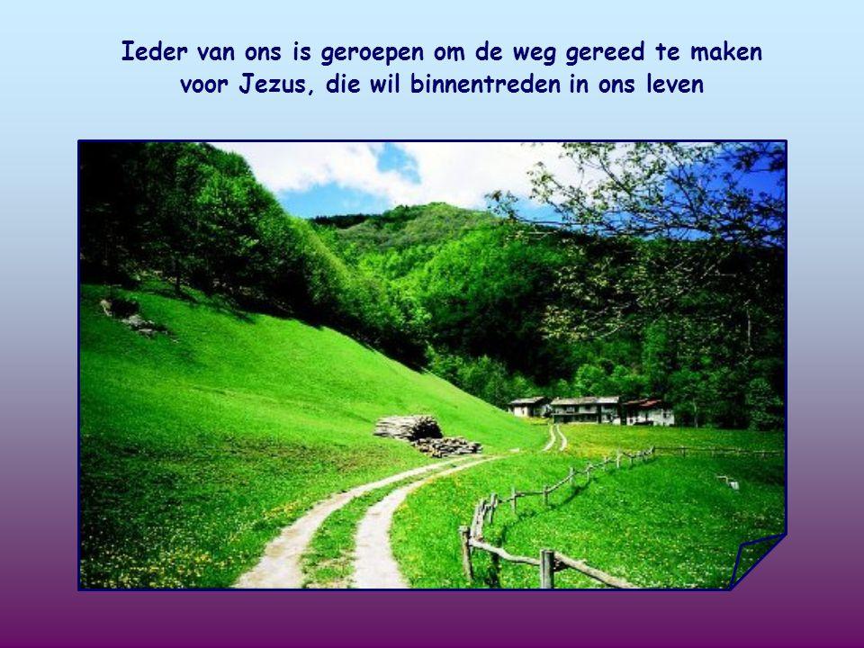 Ieder van ons is geroepen om de weg gereed te maken voor Jezus, die wil binnentreden in ons leven