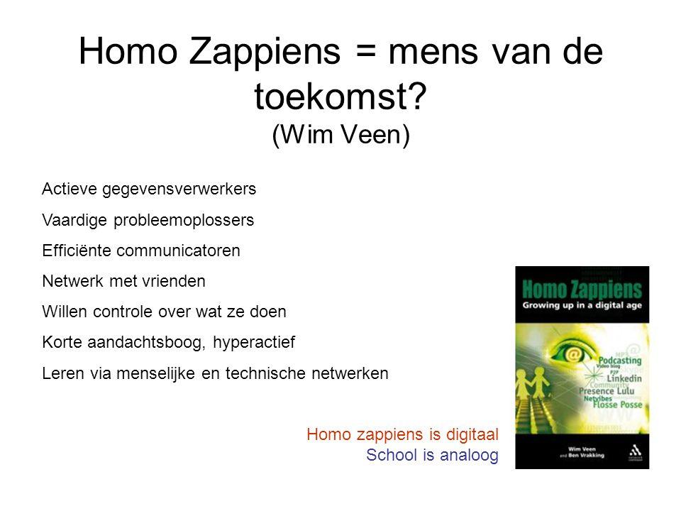 Homo Zappiens = mens van de toekomst (Wim Veen)