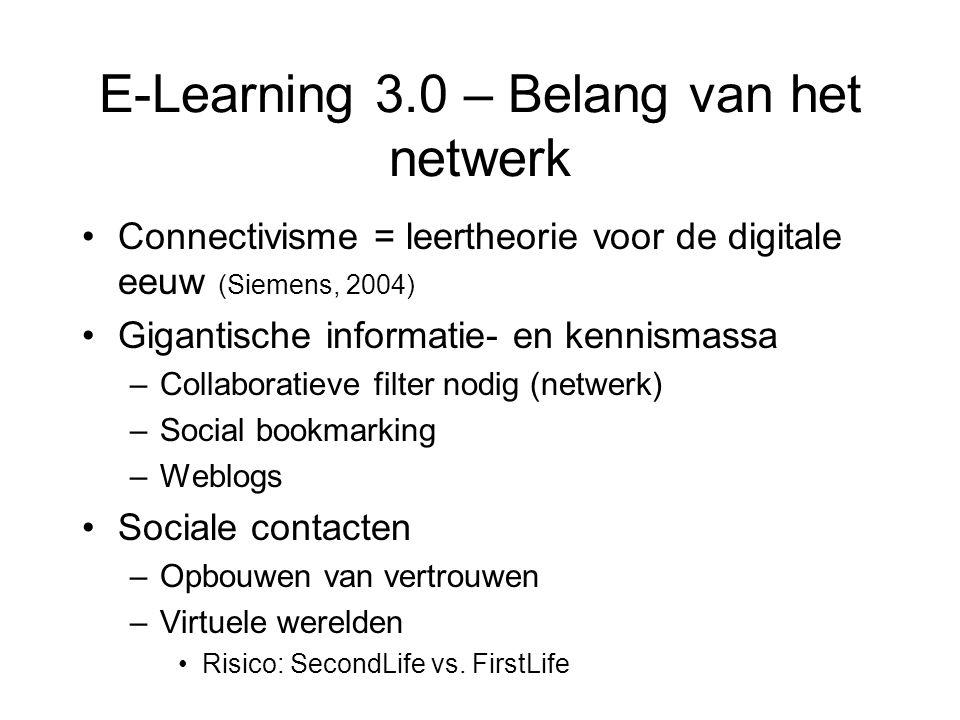 E-Learning 3.0 – Belang van het netwerk