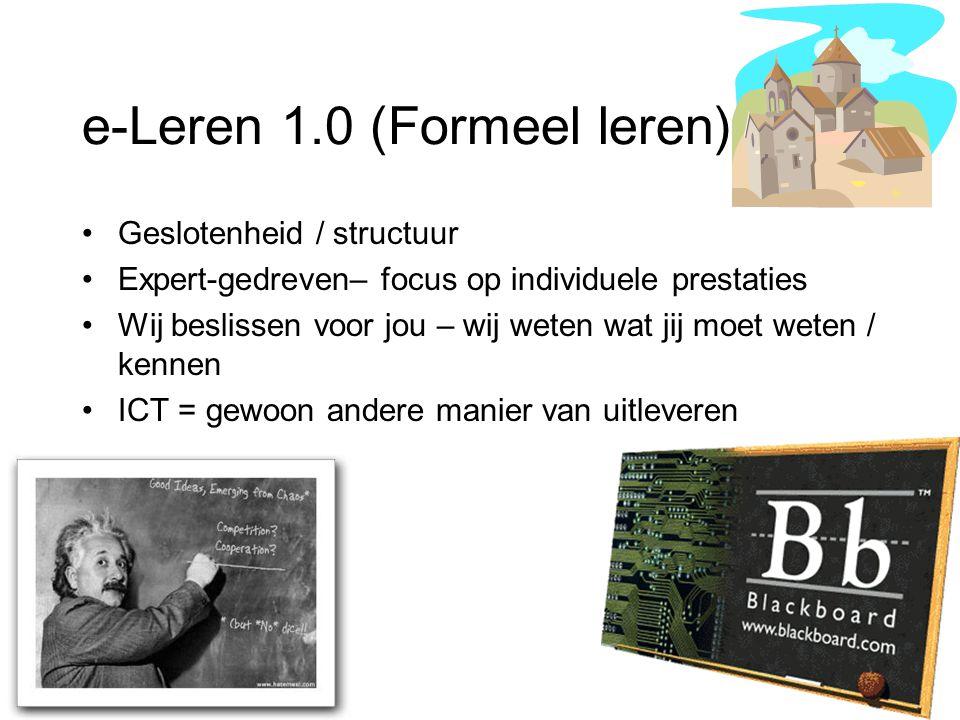e-Leren 1.0 (Formeel leren)