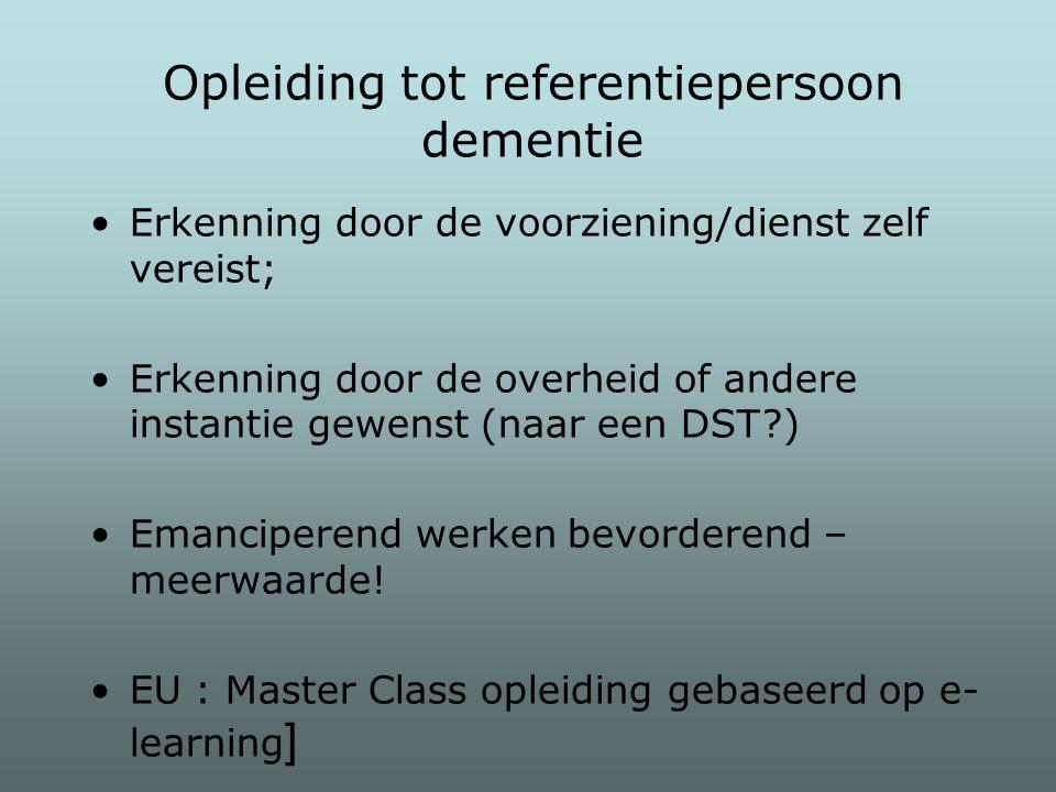 Opleiding tot referentiepersoon dementie