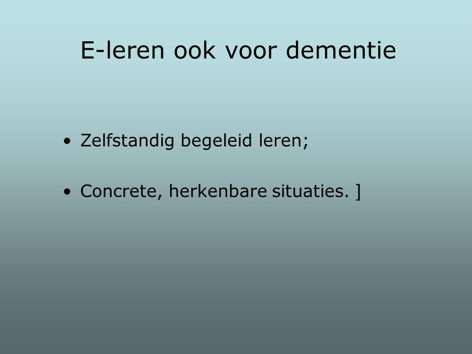 E-leren ook voor dementie