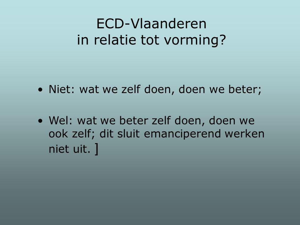 ECD-Vlaanderen in relatie tot vorming