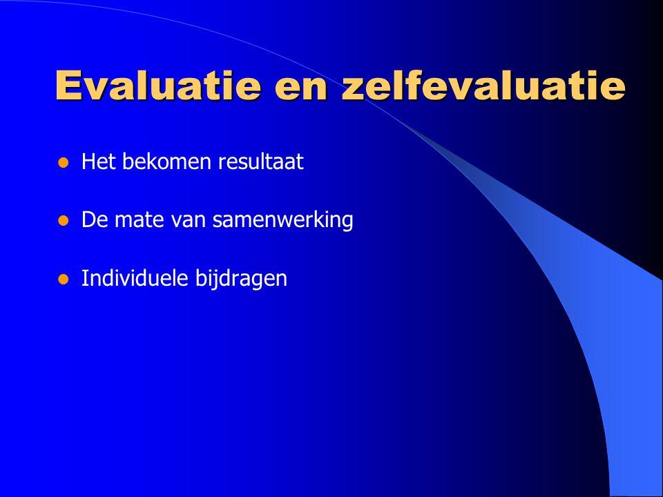 Evaluatie en zelfevaluatie