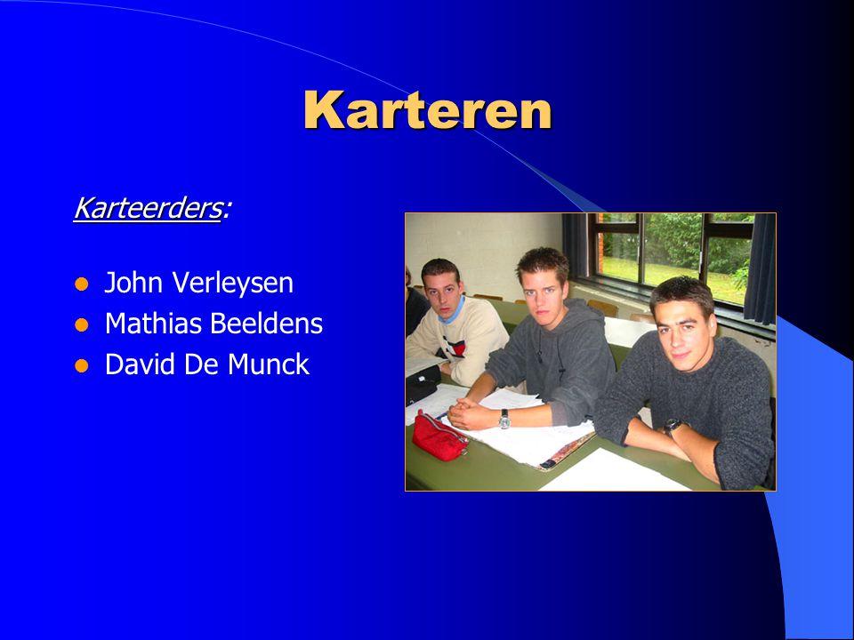 Karteren Karteerders: John Verleysen Mathias Beeldens David De Munck
