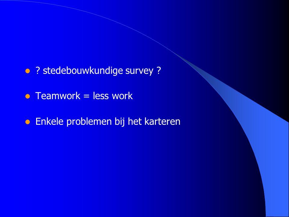 stedebouwkundige survey