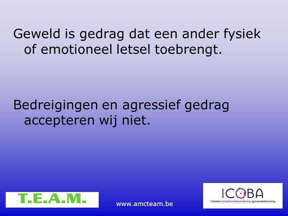 Geweld is gedrag dat een ander fysiek of emotioneel letsel toebrengt.
